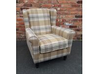 Brand New Upholstered Wingback Armchairs
