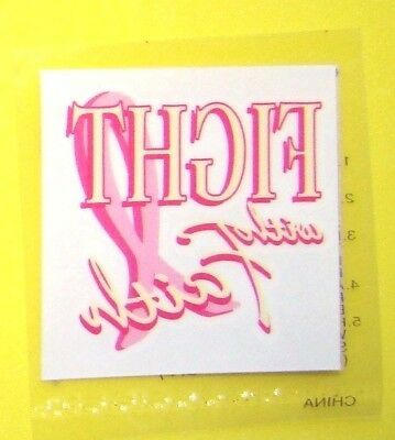 9 Pink Ribbon FIGHT FAITH Temporary Tattoos Breast Cancer Awareness HS2