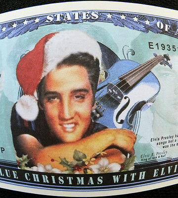 In Memory Of Elvis Presley Blue Christmas FREE SHIPPING! Million-dollar novelty