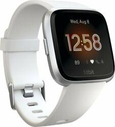 Fitbit Versa Lite Edition Smart Watch FB415SRWT White One Size  S & L Bands.
