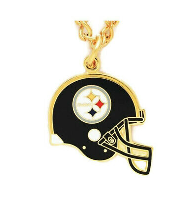 NFL Pittsburgh Steelers Helmet Jewelry Necklace with Charm and 18