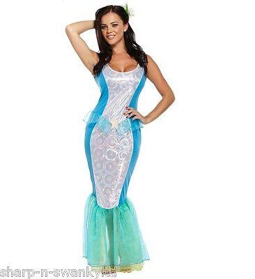 Damen Sexy Kleine Meerjungfrau Matrose Meer Ozean Halloween Kostüm Kleid Outfit