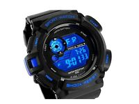 Mens Fashion Digital Sports Watch - LED Backlight 4 Colours - Water Resistant - BRAND NEW & SEALED