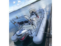 5.2 Mtr RIB for sale - comes with 90HP Mariner engine (with full history)