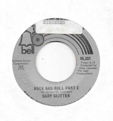 GARY GLITTER * 45 * Rock And Roll Part 2 * 1972 * USA ORIGINAL BELL Sports - Rock And Roll Themes