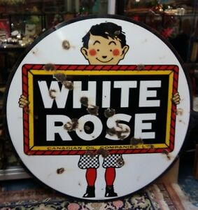 White Rose Double Sided Sign Kingston Kingston Area image 2