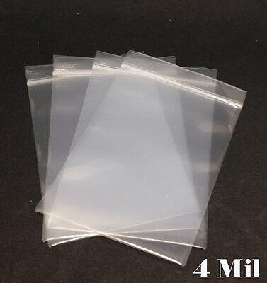 4 Mil Clear Zip Lock Reclosable Bag Ziplock Zipper Packing Heavy Duty Plastic