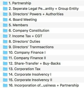 LPC Notes 2018 ll Business Law and Practice Workshop & Prep Task ll Distinction