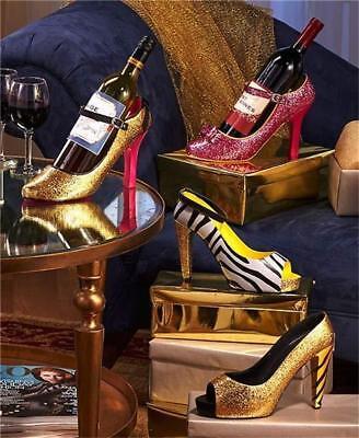 FASHIONABLE GLITTERY SHOE PUMP HIGH HEEL WINE BOTTLE HOLDER GREAT GIFT IDEA!! - Wine Bottle Ideas