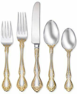 Oneida Golden Mandolina 45 Piece Fine Flatware Set, Service for 8
