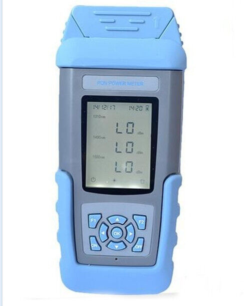 FTTX PON Optical Power Meter Tester With Rechargeable Battery En-version