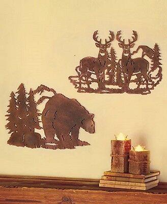 WALL ART, DEER,  BEAR, or MOOSE,  LODGE, CAMP METAL ART