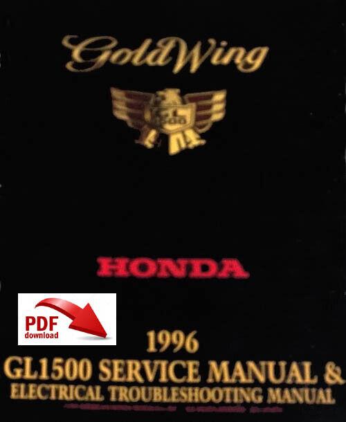 HONDA GL1500 GOLDWING FACTORY SERVICE MANUAL & ETM 1996