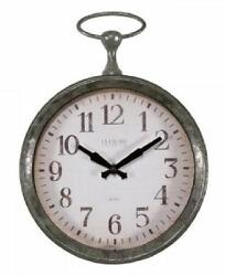 La Crosse Pocket Watch Style Frame 9 Inch Quartz Wall Clock Battery Operated