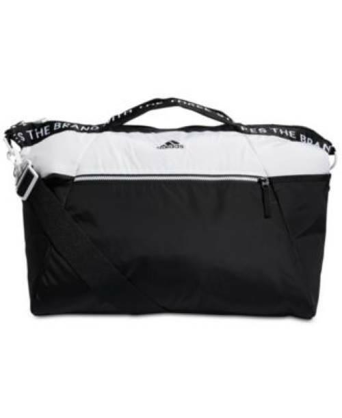 Adidas Studio White Black Colorblocked Duffel Bag MSRP $65 NWT
