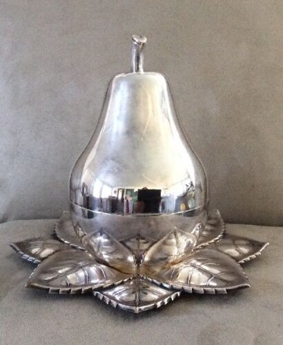 Antique/Vintage Tantalus liqueur etched crystal glass silver plated set Marked