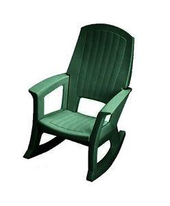 Semco Plastics Green Resin Outdoor Patio Rocking Chair SEMG