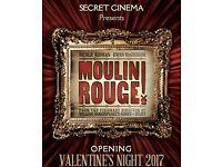 Secret Cinema Moulin Rouge Sunday 19th February x 2