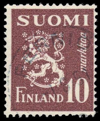 """FINLAND 293 (Mi380) - Finnish Lion """"1950 Violet Brown"""" (pa58868)"""