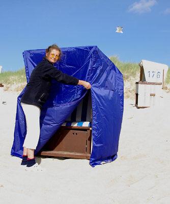 Strandkorbabdeckhaube in dunkelblau .. Bootsplane