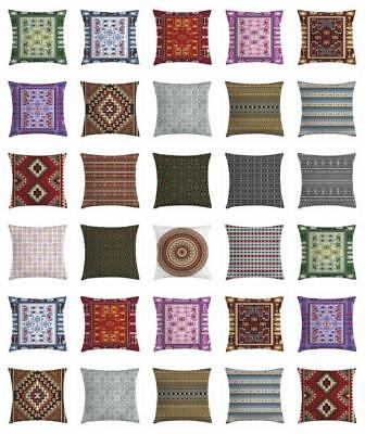 Afghan Throw Pillow Cases Cushion Covers by Ambesonne Home D