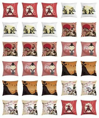 Samurai Throw Pillow Cases Cushion Covers by Ambesonne Home