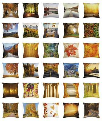 Fall Throw Pillow Cases Cushion Covers Home Decor 8 Sizes Am