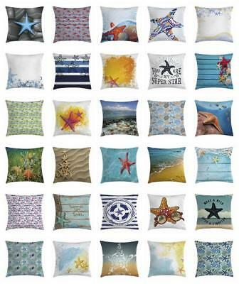 Marine Starfish Throw Pillow Cases Cushion Covers Home Decor