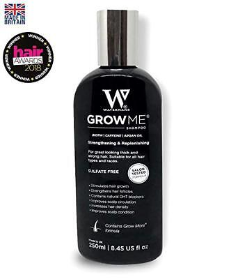 Watermans Grow Me Shampoo, 8.45 oz, #1 Hair Growth Shampoo + Can Stop Hair Loss for sale  Woodmere