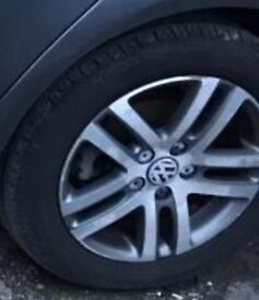 VW JETTA SET OF 4 ALLOY WHEELS WITH TYRES