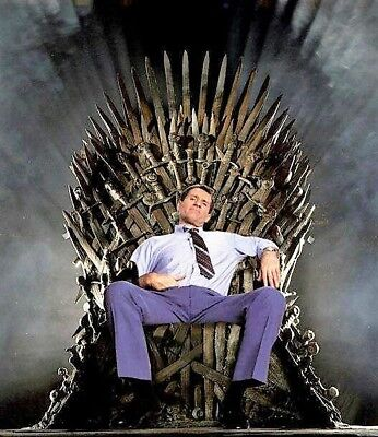 ED O'NEILL AL BUNDY ON HIS THROWN THE GAME OF THRONES THRONE ACEO  FOOTBALL CARD