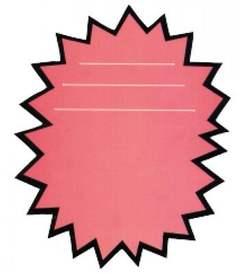 Pink Burst Sale Signs Best Deal 50 Retail Store Price Sign Tags-2 Packs