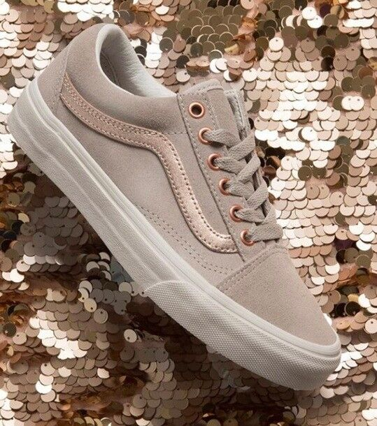 49e5ad14fce Grey with Rose Gold Vans - Size 7