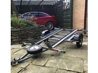 Two bike galvanised trailer