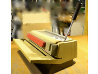 Office Comb Binding machine for binding documents