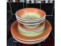 13 piece dinner set/dinner plates/soup bowl/mugs