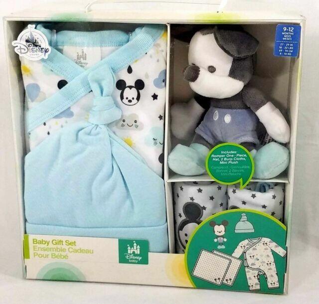 NEW Disney Parks MICKEY Baby Gift Set-Hat, Burp Cloth, Sleep