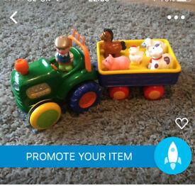 Tractor and farmyard animal set