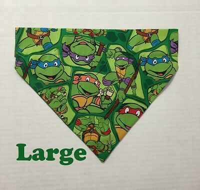Tmnt Bandana ( Teenage Mutant Ninja Turtles TMNT Over Collar Slide On Pet Dog Cat Bandana)