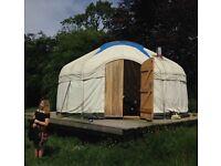 18ft Mongolian White Yurt Tent