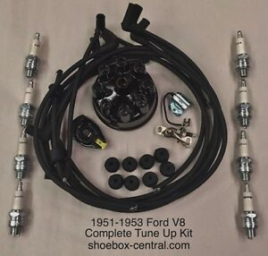 1951 1952 1953 Ford Mercury Flathead V8 Complete Tune Up Kit Save!