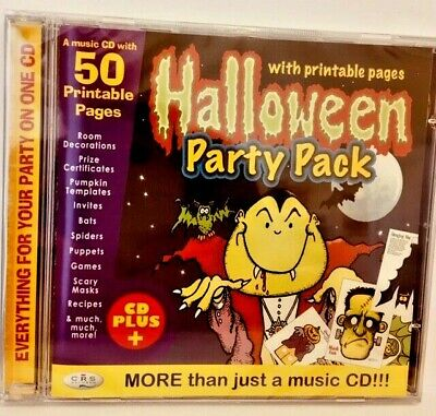 Halloween Masks Printables (HALLOWEEN PARTY PACKS CD+ 50 PRINTABLE PAGES SCARY MASKS, ROOM DECORATIONS)