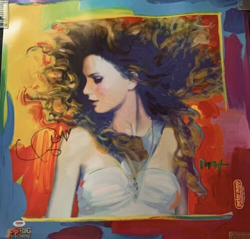 """TAYLOR SWIFT AUTOGRAPHED 2011 PETER MAX """"FEARLESS"""" POSTER PSA DNA AD11730"""
