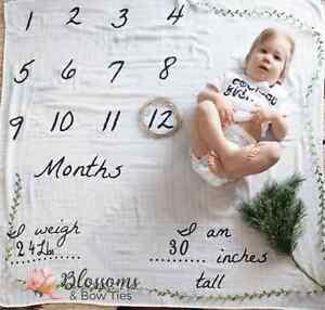Milestone Swaddles & Custom Party Decor!