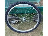 Great condition 26 inch front wheel with inner tube and tyer