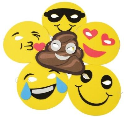 12 Emojicon Emoji Face Masks Poop Laughing Smile Heart Kiss - Heart Emojicon
