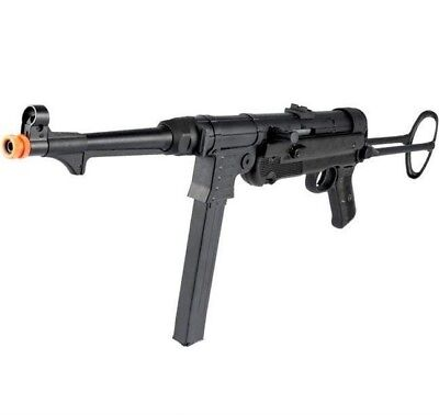 Agm Metal - AGM AIRSOFT MP007 Full Metal WWII Electric MP40 Airsoft AEG Rifle Swivel Stock