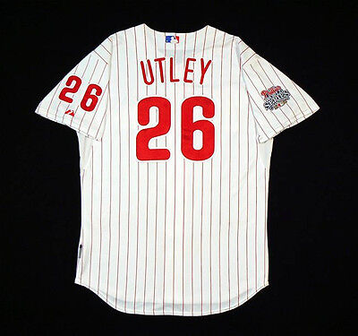 Chase Utley Philadelphia Phillies Game Worn Used 2009 Jersey MLB Authentic  on Rummage
