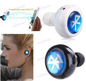 mini bluetooth wireless in ear headphones headset stereo mono earphone smallest. Black Bedroom Furniture Sets. Home Design Ideas