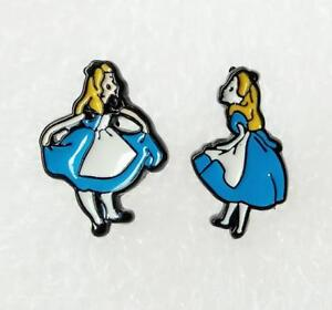 2pcs Disney alice princess metal earring ear stud earrings studs manga  new